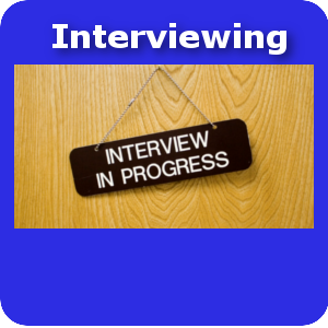 Interviewing small button template